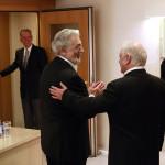 Kurz vor dem Auftritt in der Philharmonie: Plácido Domingo und Daniel Barenboim (18. April)