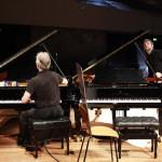 Die Flügel werden gestimmt: Gleich beginnt das Duo-Recital von Martha Argerich und Daniel Barenboim (19. April)