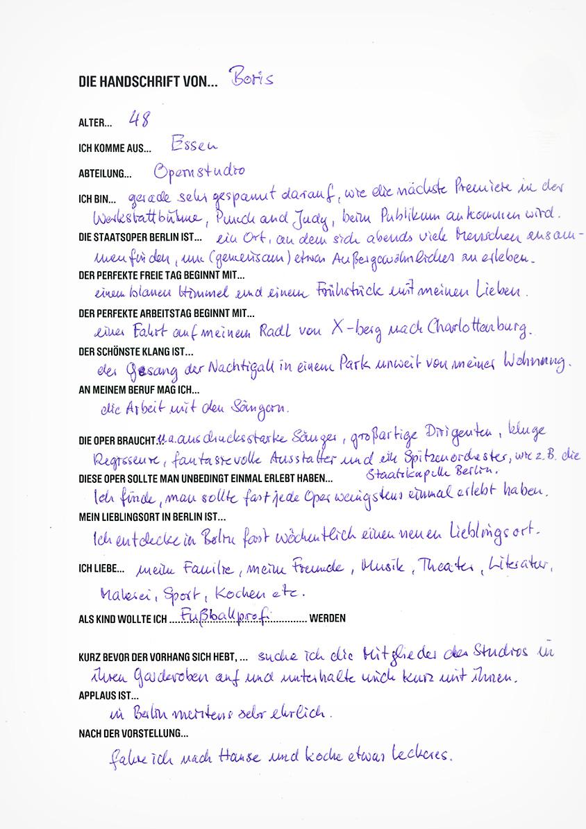 Die Handschrift von Boris Anifantakis