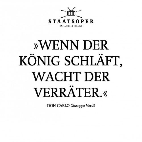 Don Carlo in der Staatsoper Berlin