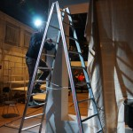 Backstage bei Lezioni di Tenebra in der Werkstatt der Staatsoper Berlin