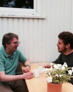 Die Dramaturgen Detlef Giese und Roman Reeger im Gespräch