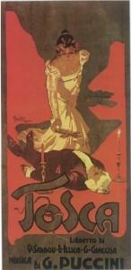 Adolfo Hohensteins Plakat zur Uraufführung von Giacomo Puccinis »Tosca« (1900)