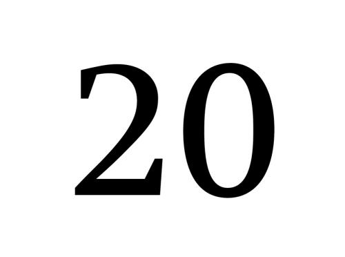 Die Staatsoper in Zahlen - 20