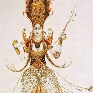 Léon Baksts Kostümentwurf »Der Feuervogel« 1910