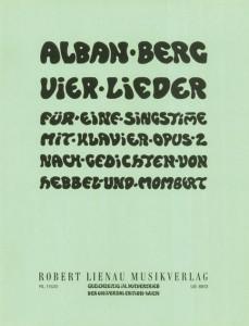 Alban Bergs selbstgestaltetes Titelblatt für seine Vier Lieder op. 2