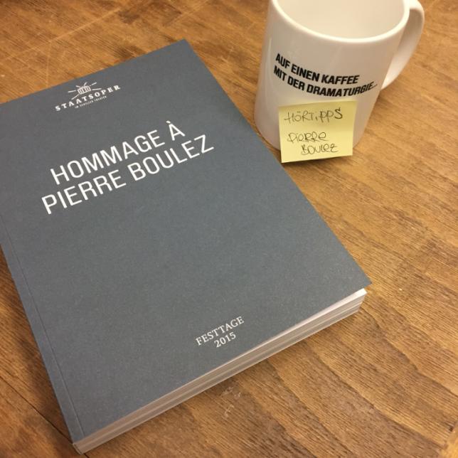Auf einen Kaffee mit der Dramaturgie - Hörtipps Pierre Boulez
