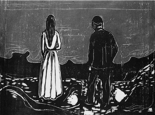 """Edvard Munch, """"Zwei Menschen. Die Einsamen"""", 1899"""
