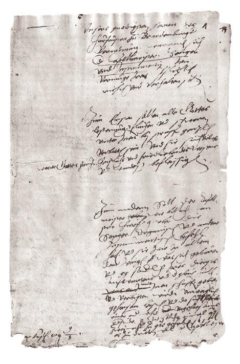 Was dokumentiert ist, ist in der Welt: Paragraphen  aus der ersten Kapellordnung von 1570