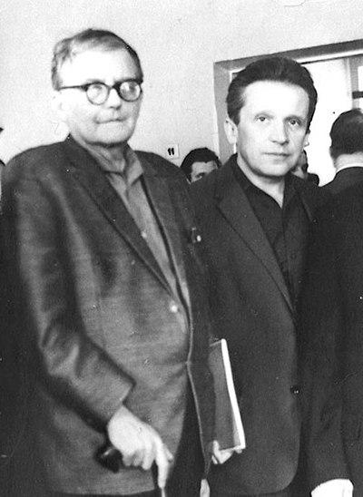 Schostakowitsch und Weinberg zusammen in Moskau
