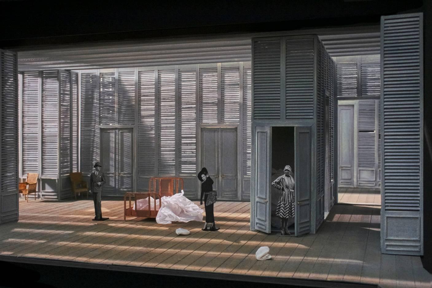 Le nozze di Figaro - Bühnenbildmodell von Magdalena Gut