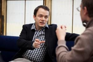 Claudius Popp im Gespräch mit Detlef Giese - Foto: Tatjana Dachsel