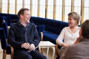Andreas Greger und Sennu Laine im Gespräch