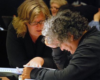 René Jacobs mit der Cembalistin Wiebke Weidanz, die ihm auch bei »Amor vien dal destino« assistiert