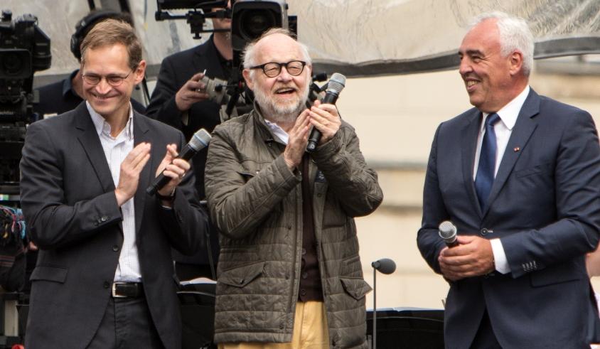 Michael Müller, Jürgen Flimm und Hans-Reiner Schröder bei »Staatsoper für alle« 2015