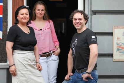 Ileana Booch-Gunescu, Barbara Glücksmann und Christoph Lauer
