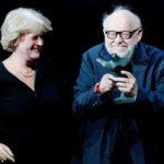 Monika Grütters und Jürgen Flimm bei der Verleihung des B.Z. Kulturpreis 2017 im Schiller Theater